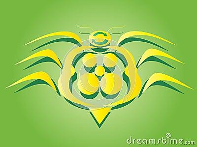 The great yellow bug symbol