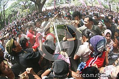 Grebeg syawal ritual Editorial Stock Image