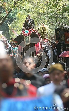 Grebeg syawal ritual Editorial Image