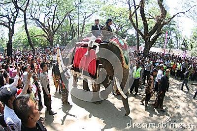 Grebeg syawal ritual Editorial Stock Photo