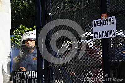Greece, Athens, 18th October 2012 Editorial Photo
