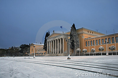Greece - Athens Snow Storm Editorial Stock Image