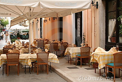 Greece. Corfu-town. Cafe