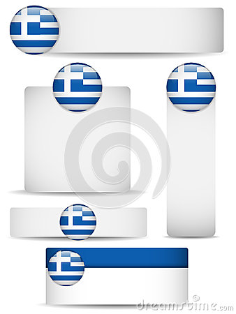Greece Country Set of Banners