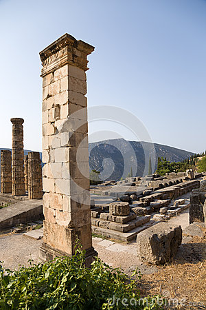 Greece. Delphi. Ancient Ruins Royalty Free Stock Image ...