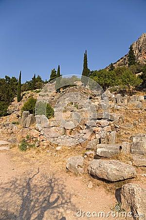 Greece. Delphi. Ancient Ruins Stock Photos - Image: 34575953
