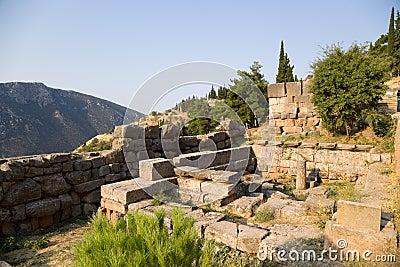 Greece. Delphi. Ruins Royalty Free Stock Image - Image ...