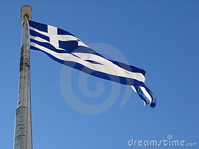 Greece flag in wind