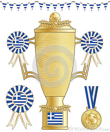 Greece football trophy