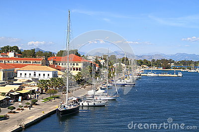 Greece/Preveza: Seaside Boulevard Editorial Stock Image