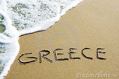 Greece in the sand