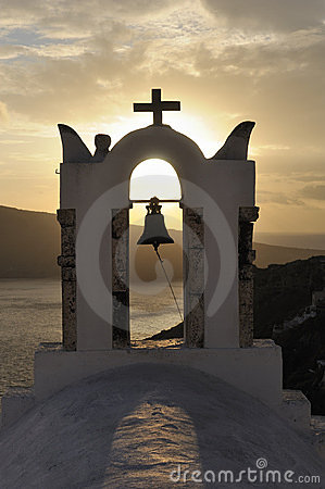 Greece. Santorini island. Oia village. Church bell