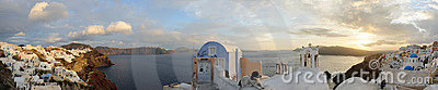 Greece. Santorini island. Oia village. Panorama