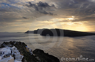 Greece. Santorini island. View on Oia village