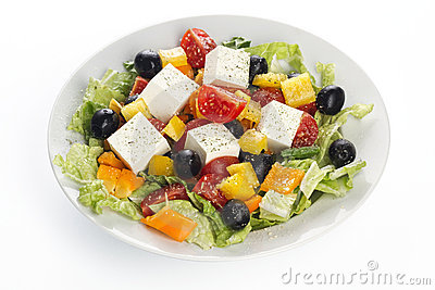 Greece vegetable salad