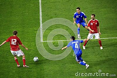Greece vs Denmark Soccer Editorial Image