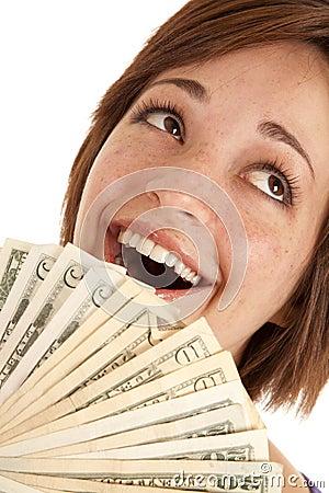 Greed close up face