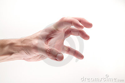 Greedy and angry hand