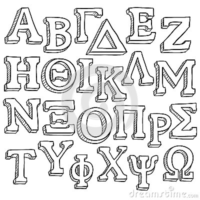 Free Greek Alphabet Sketch Stock Photography - 28194372