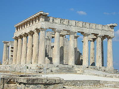 Greek ancient temple - Aphaia - Aegina - Greece