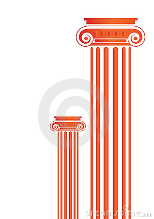 Greek Antique pillars - vector