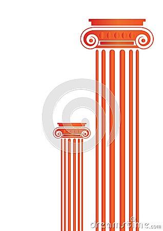 Free Greek Antique Pillars - Vector Stock Photo - 6495710