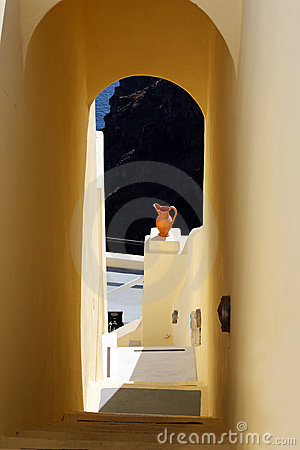 Greek arch in Santorini island