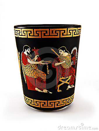 Greek art cup