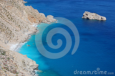 Greek beach, amorgos island