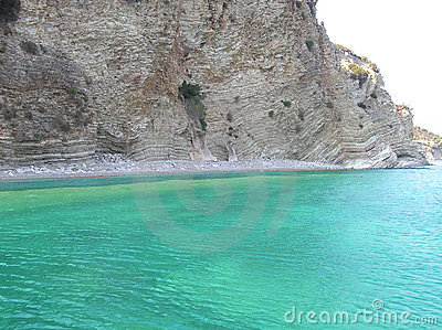 Greek beach in Ionian Sea
