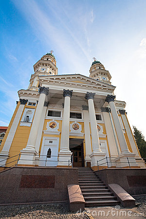 Greek Catholic Cathedral  in Uzhhorod City.