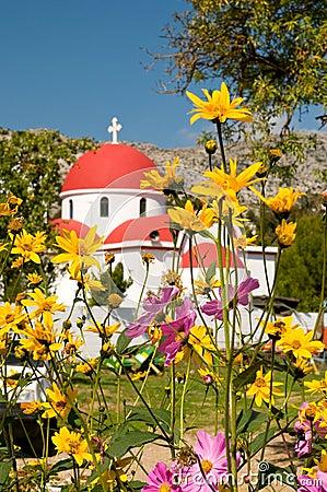 Greek catholic church in Crete, greece