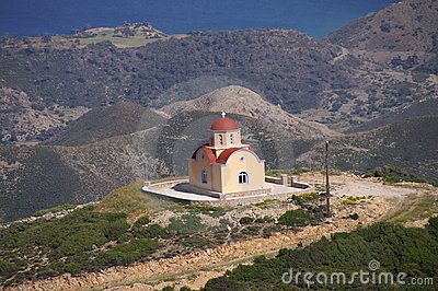 Greek chapel on top of the hill