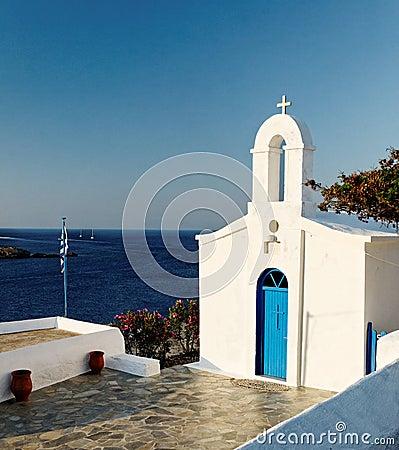 Free Greek Church And Sea Stock Photography - 22602522