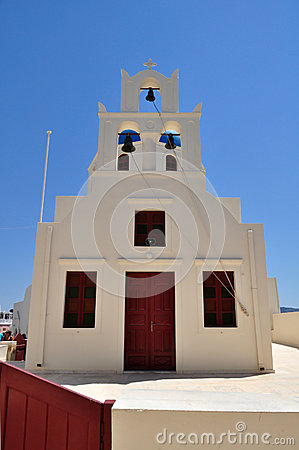 Greek church on island of Santorini in Oia