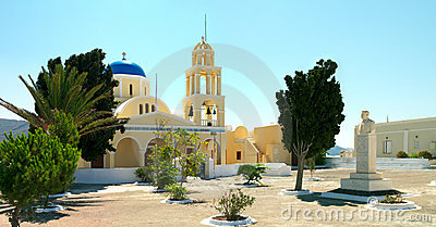 Greek church in the Santorini island