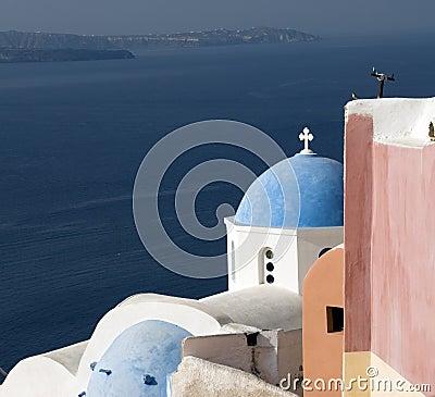 Greek church santorini island