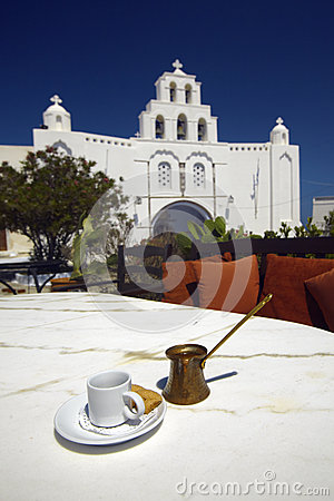 Greek coffee and church
