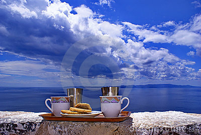 Greek coffee close-up