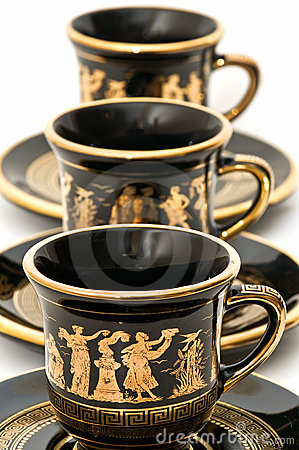 Greek Coffee Cups Royalty Free Stock Images Image 12744619