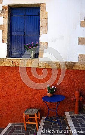 Free Greek Colour Crete Blue Red Stock Photo - 4133750