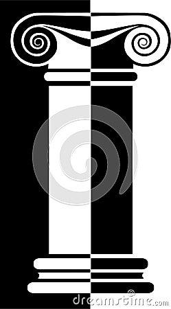 Greek Column Reverse/eps