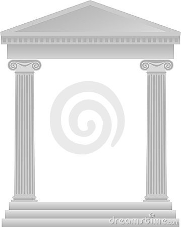 Free Greek Columns Background/eps Stock Image - 1589831