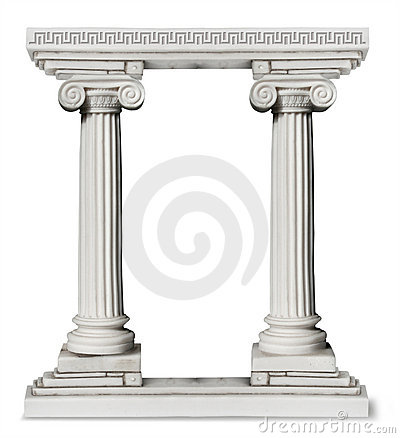 Free Greek Columns Gate Royalty Free Stock Photography - 11101197