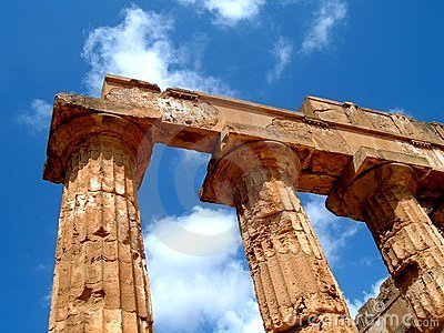 Greek columns in Sicily