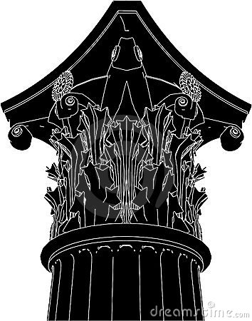 Greek Corinthian Column Vector 03