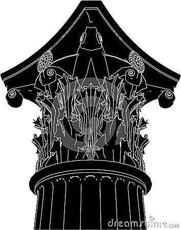 Greek Corinthian Column Vector 03