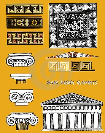 Greek design elements