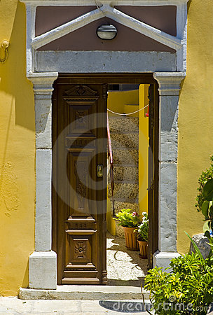 Greek doorway