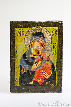 Greek byzantine Eleousa Icon